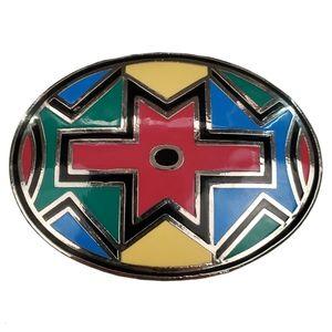 Aztec Western Enamel Colourful Belt Buckle